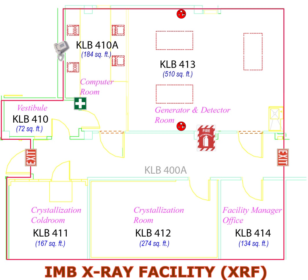 Macromolecular x ray crystallography facility layout for X ray room floor plan